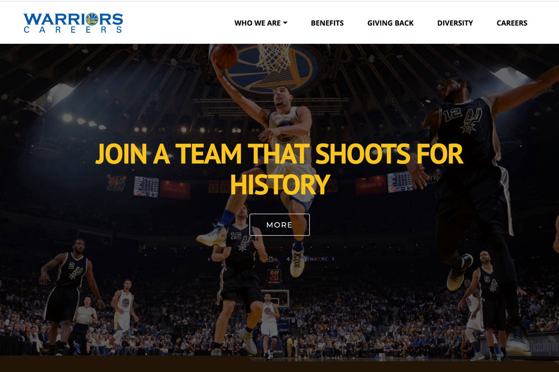 Golden State Warriors Careers Website